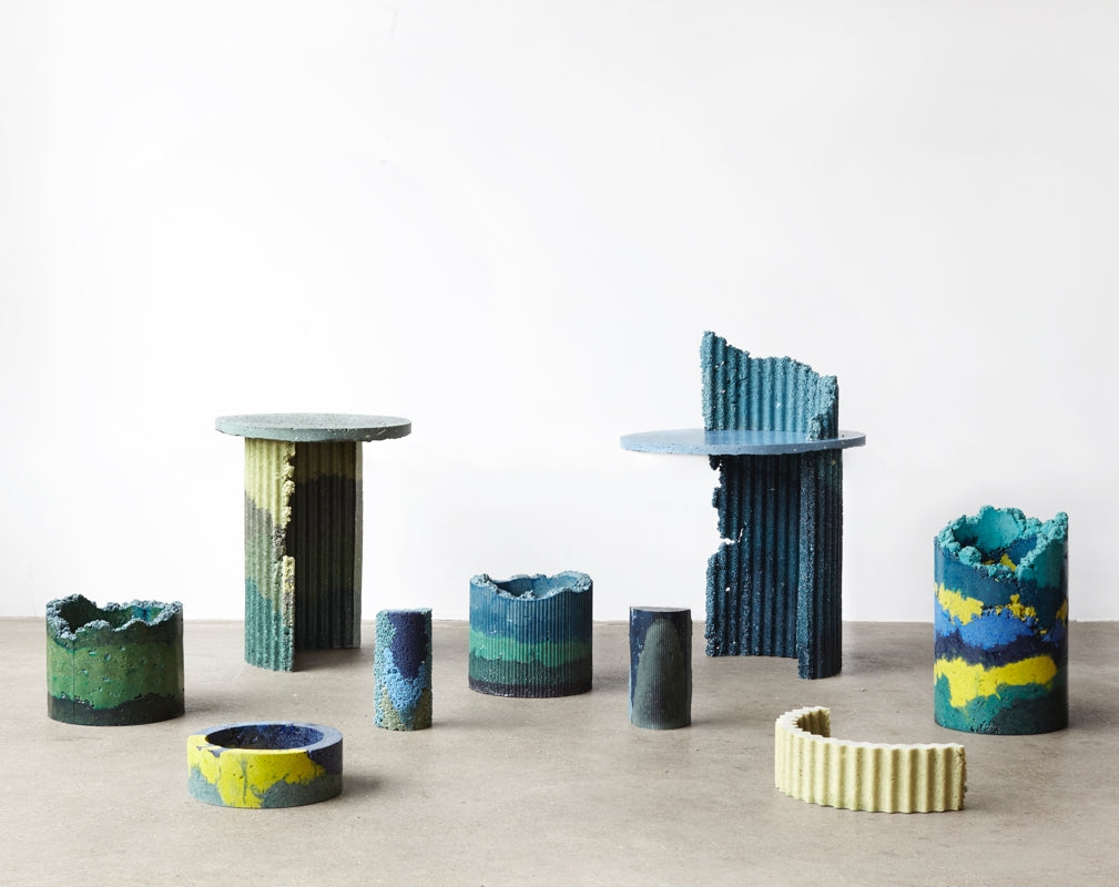 Charlotte Kidger's collection Industrial Craft is a material based project that will feature at London Design Fair 2018