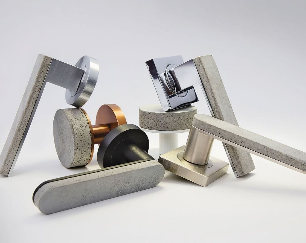 Designer Doorware's Bullet & Stone collection of door handles is made from concrete