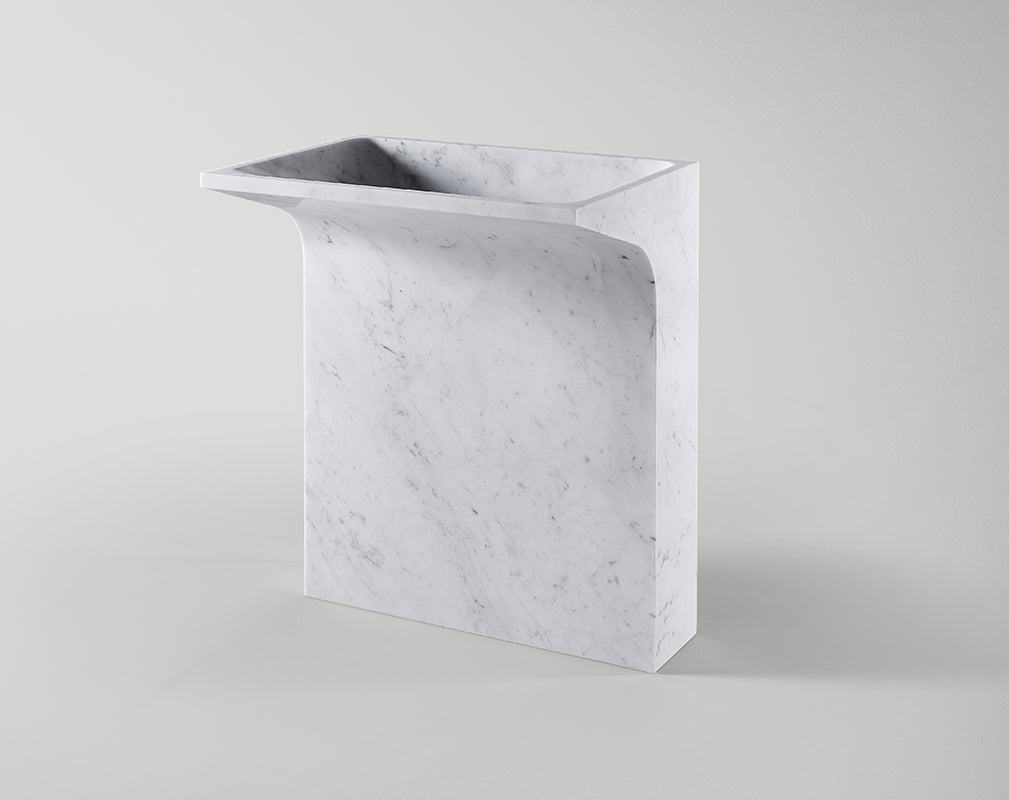 marble sink by claybrook interiors