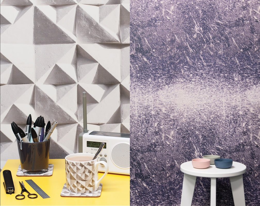 Ella Doran's Geo and Tapias wallpaper designs