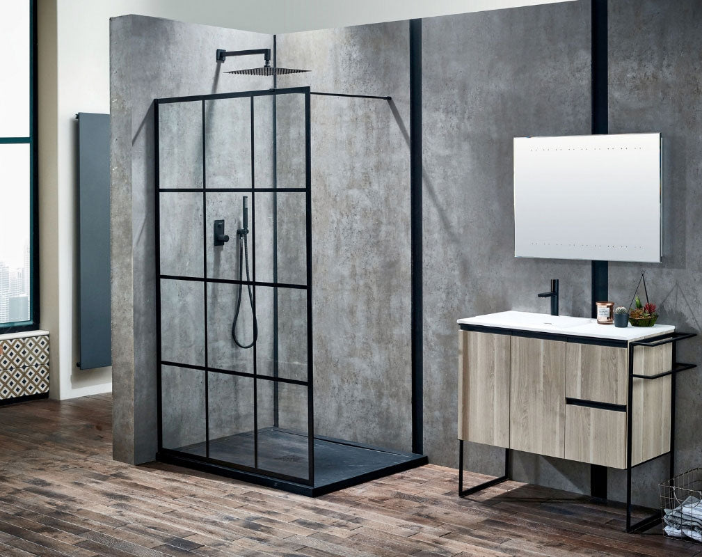 Bathroom Trends Crittall Window Style Shower Panels. Frontline Bathrooms Velar Shower Enclosure