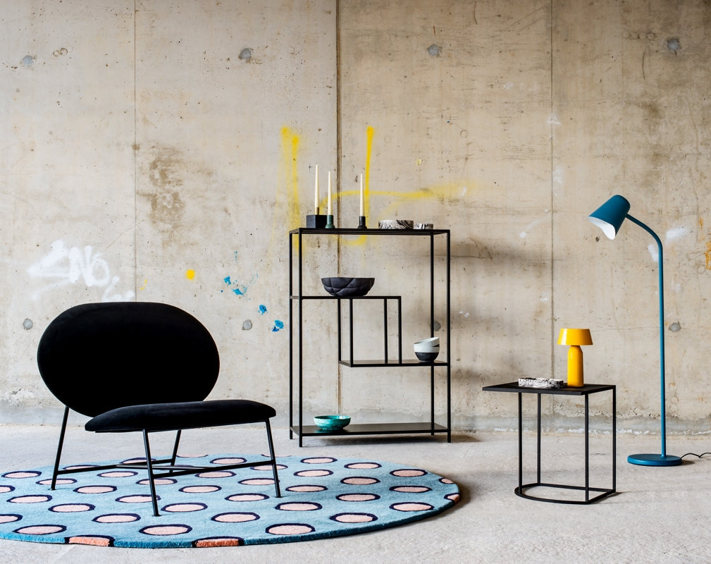 Furniture designs feature in an industrial space promoting designjunction as part of London Design Festival