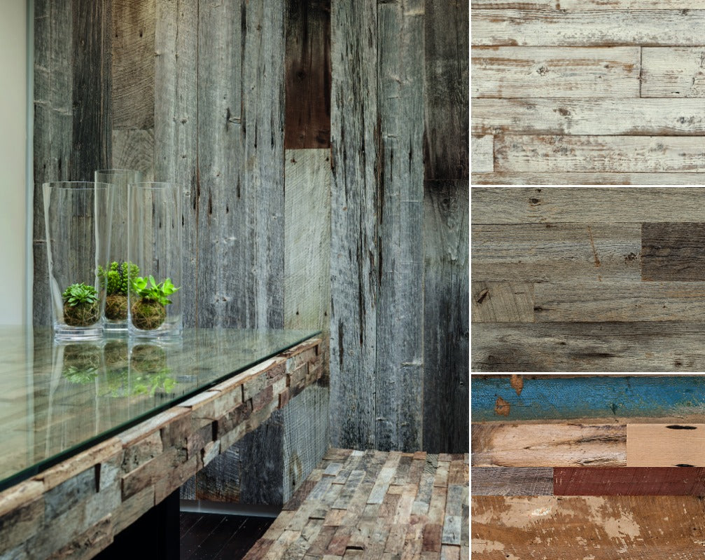 Weathered wood rustic sufraces from Havwoods are ideal for getting that reclaimed look in your industrial space