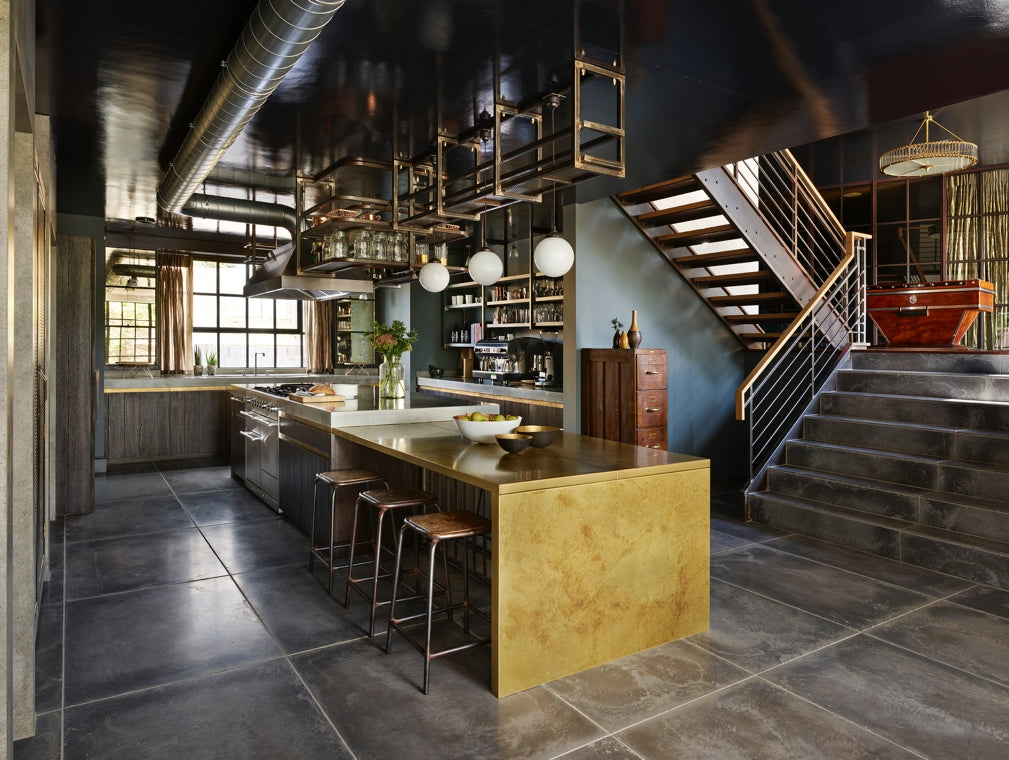 Hetherington Newman Grand Designs Bollindale kitchen features rich colours and industrial designs