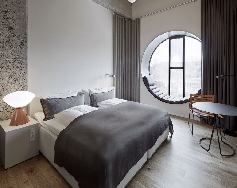 Bedroom in Hotel Ottilia Luxury Boutique Hotel in former Carlsberg Brewery in Copenhagen