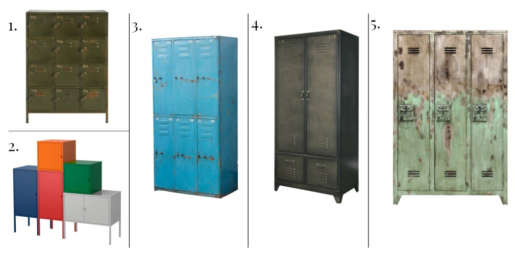 5 industrial style lockers and cabinets for a warehouse home or industrial living space
