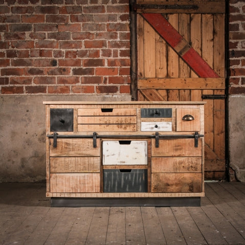 Large industrial style rustic Muntjac cabinet from J.N. Rusticus