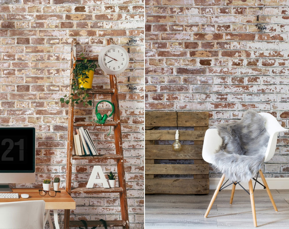 Exposed brick wallpaper from Murals Wallpaper
