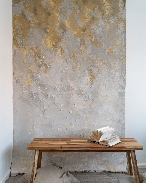 Unique textured pliable plaster wal hangings created by Tanya Vacarda of Vacarda Design