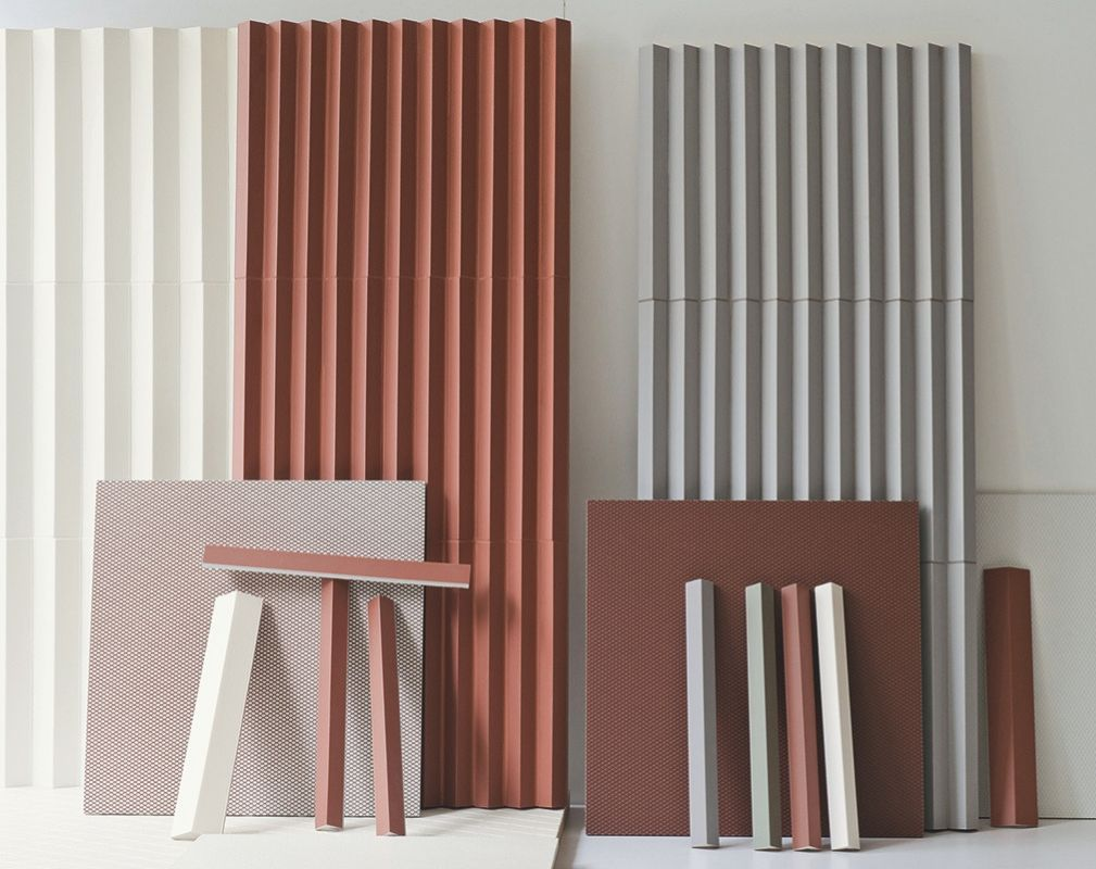 Rombini tiles designed by the Bouroullec brothers for Mutina