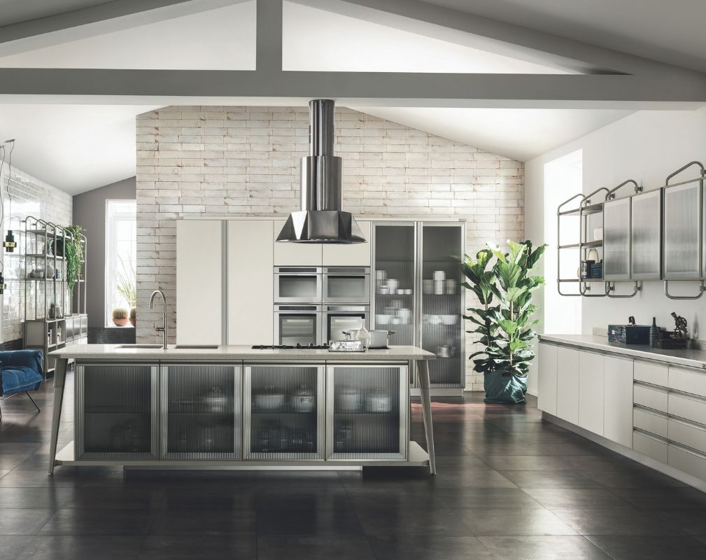 Scavolini's Diesel Open Workshop kitchen collection, produced in  partnership with Diesel.