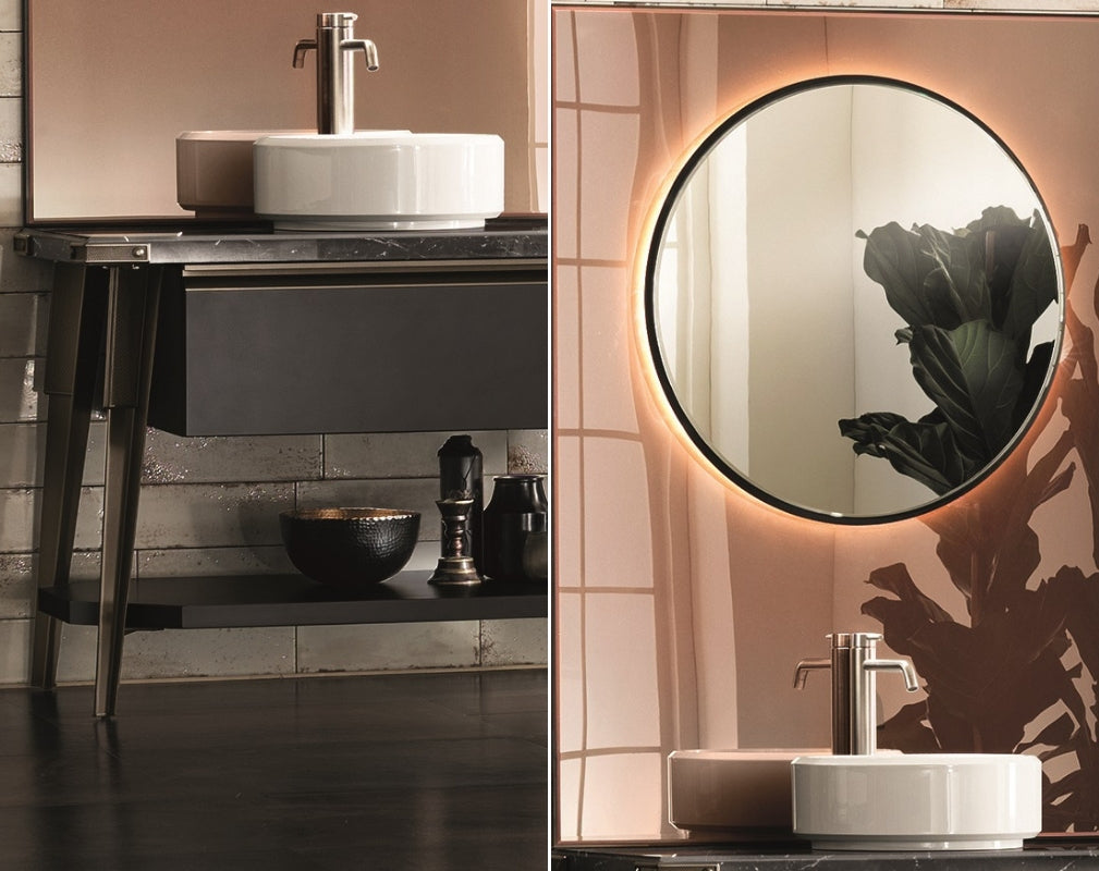 Open Workshop industrial style bathroom from Scavolini and Diesel Living - close up details