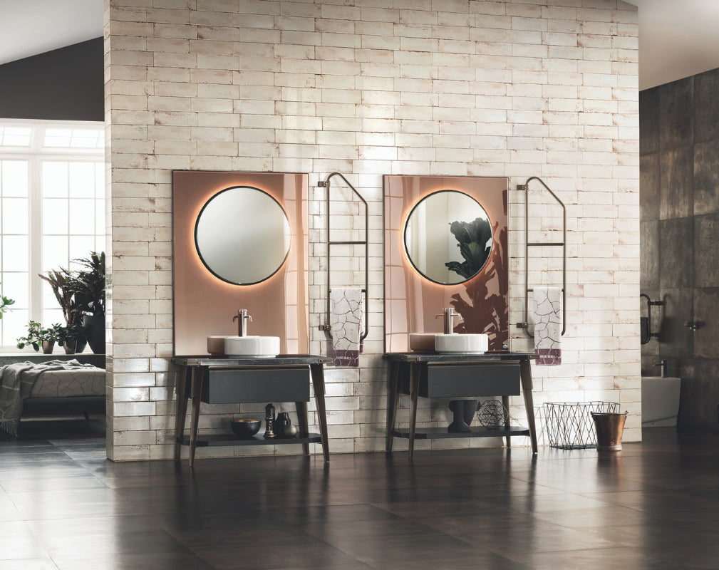 Open Workshop Industrial Style Bathroom by Scavolini and Diesel Living