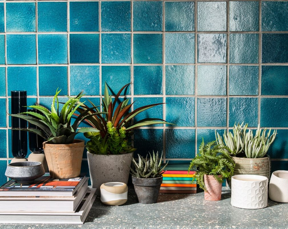 Sequel tiles by Alusid made from 98% recycled materials. Available from Parkside