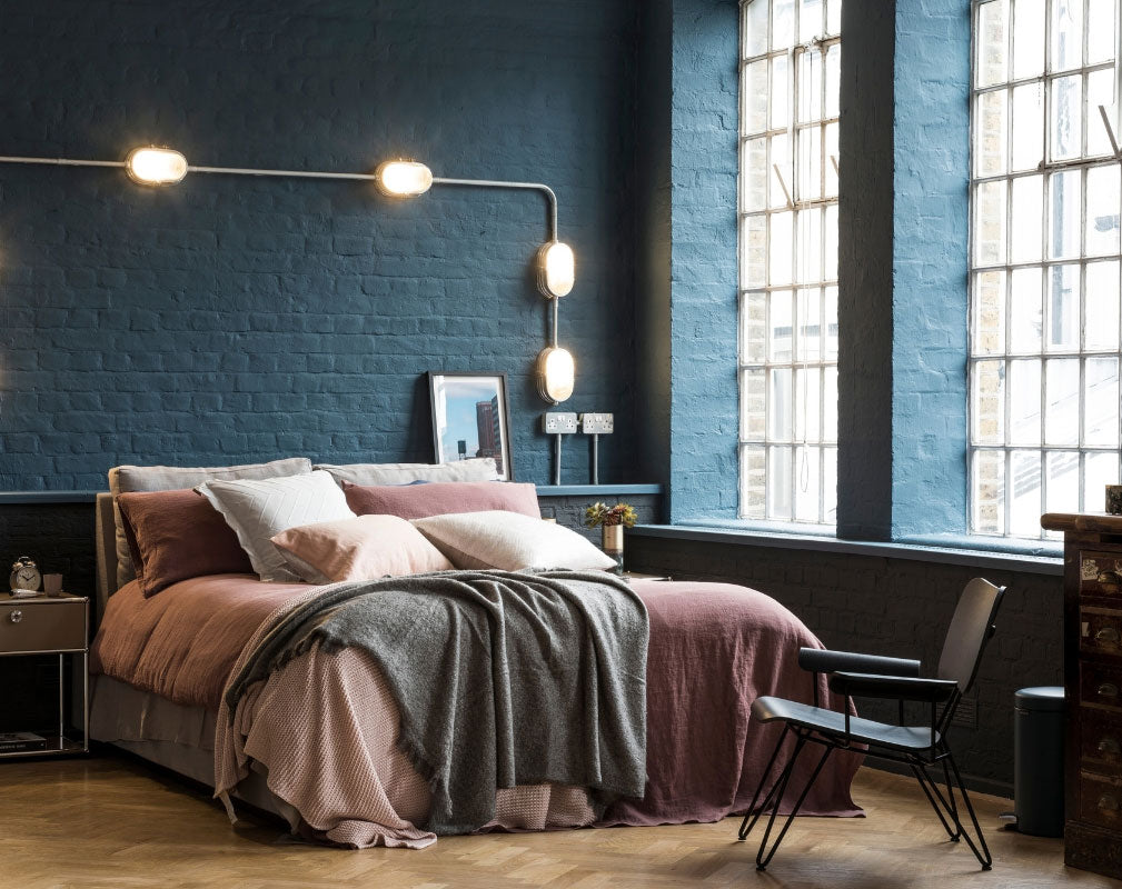 Warehouse apartment bedroom in Shoreditch styled by Lucy Gough