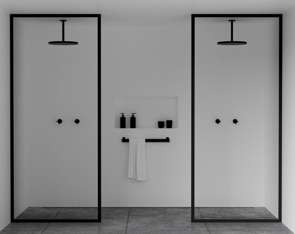 Bathroom trends Crittall style shower panels and enclosures. Shower Wall by Nichba