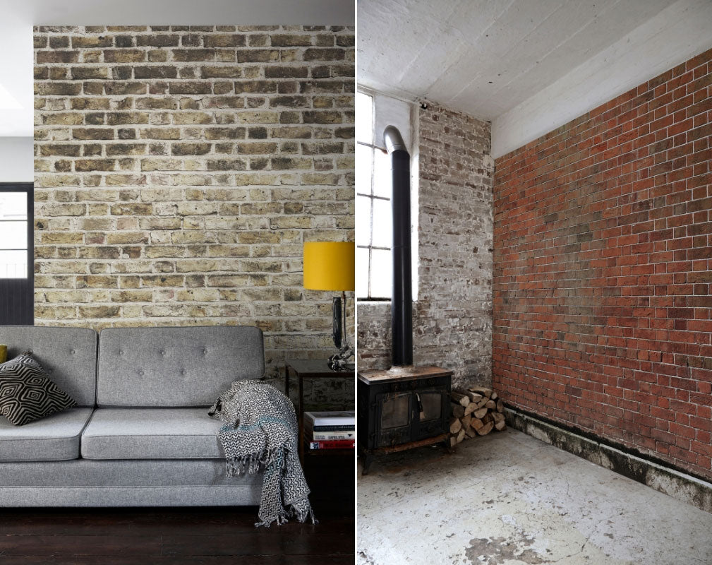 Exposed brick wallpaper from Surface View