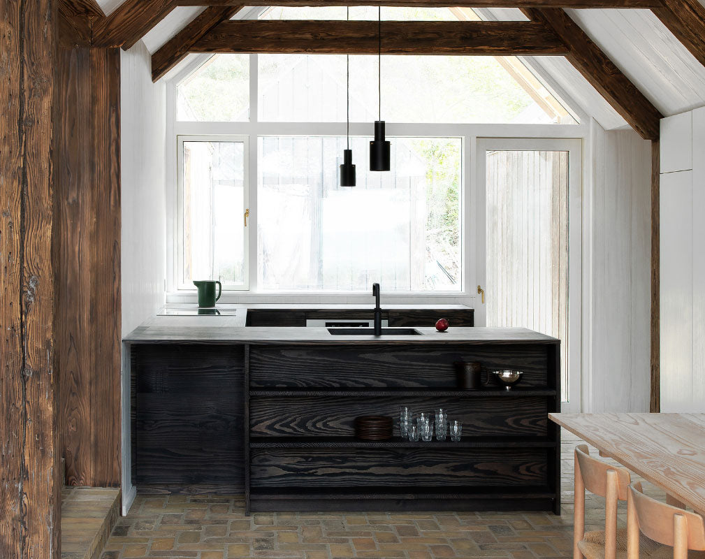 UP sustainable kitchen designed by Reform and Lemdager Group using surplus wood flooring from Dinesen