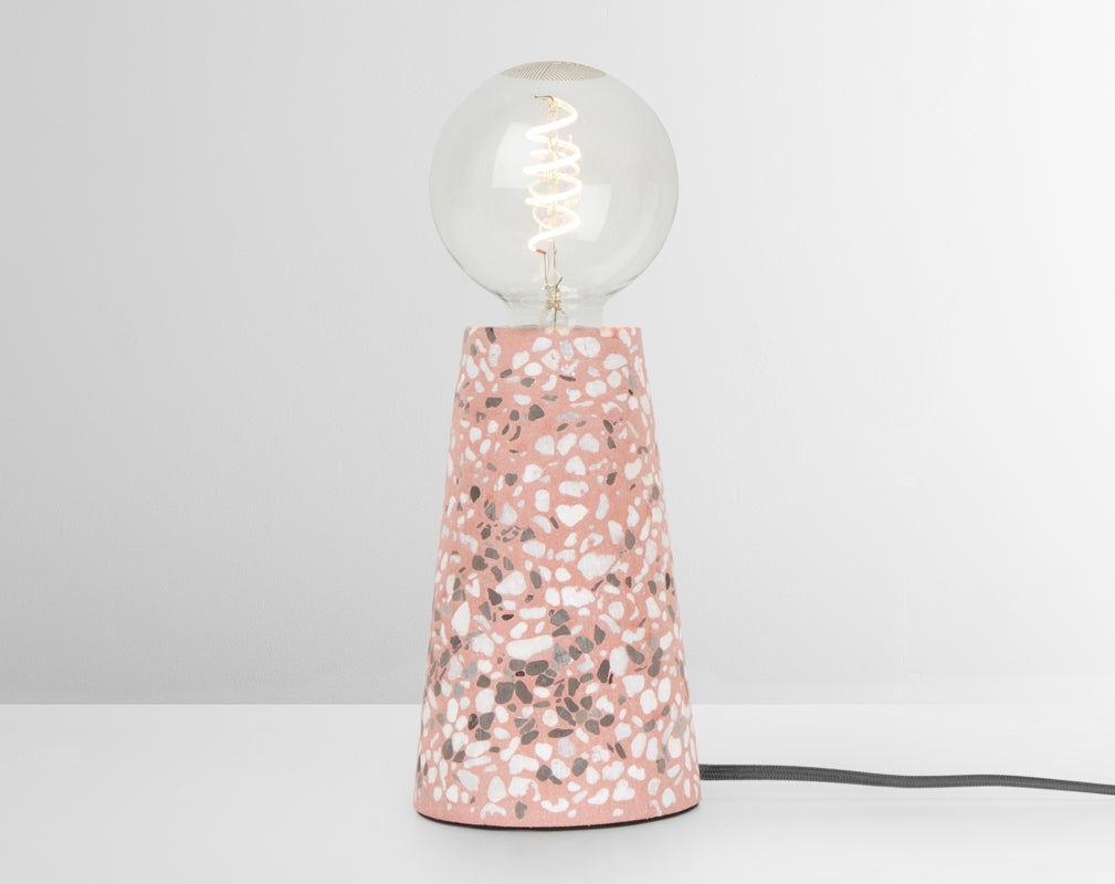 The Made.com Jett Table Lamp in Pink Terrazzo