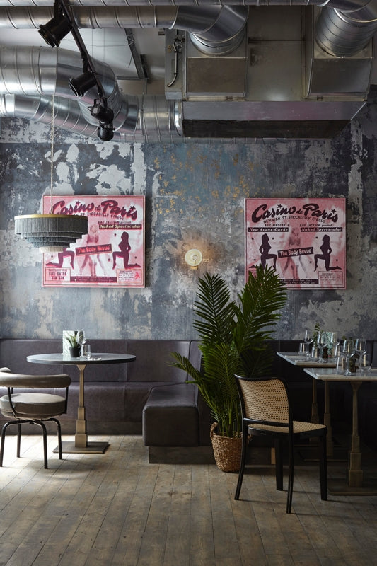 The basement bar at Scarlett Green in London designed by Run For The Hills