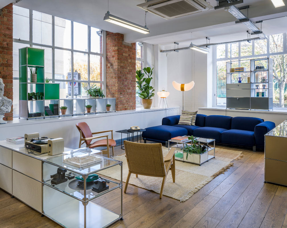 USM Showroom in Clerkenwell is a welcoming space showcasing modular furniture