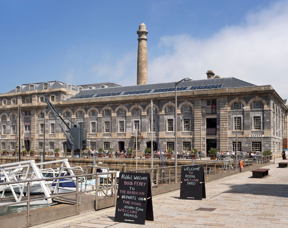 Royal William Yard. Redevelopment of former Naval Base in Plymouth by Urban Splash.