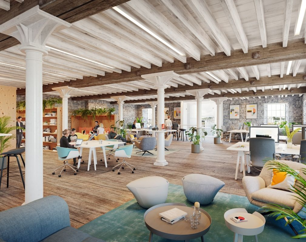 The redeveloped Melville Building at Royal William Yard in Plymouth will provide office space