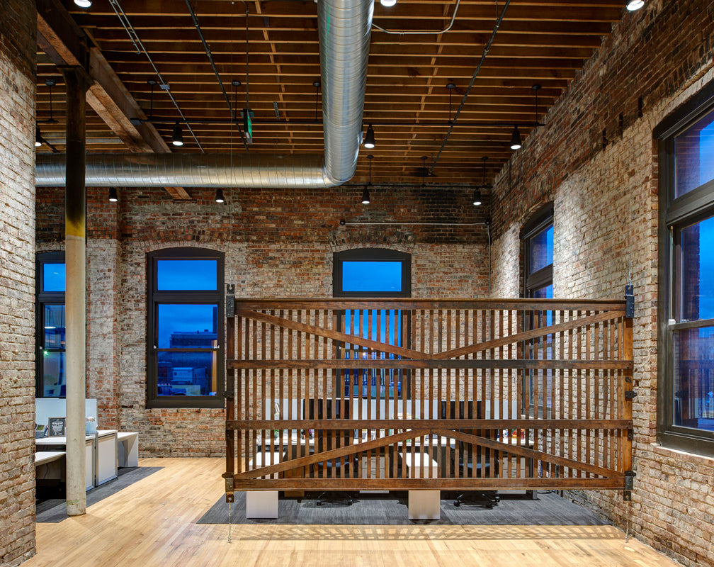 Warehouse-conversion-office-factory-windows-wooden-beams-exposed-brick-warehouse-home