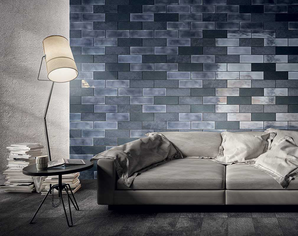 Camp denim hyper realistic wall tiles by diesel living with iris ceramica