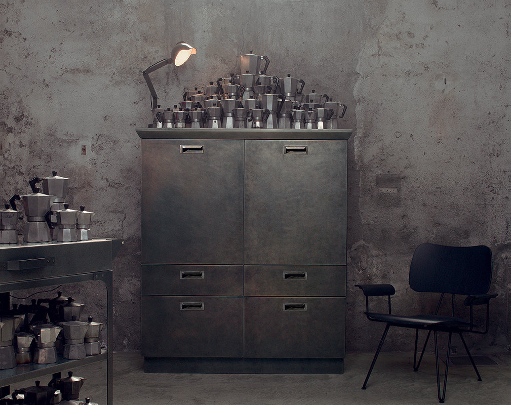 Industrial iron kitchen storage by diesel living for scavolini