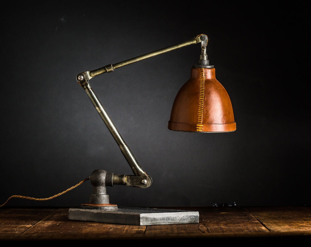 vintage leather lamp from felix lighting specialists
