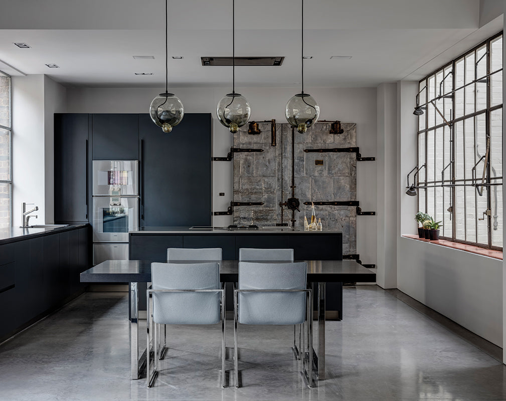 industrial kitchen scheme in a converted shoe factory by angus pond architects