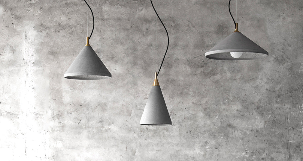 concrete pendants from bentu studio