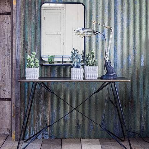 industrial inspiration from graham & green with think black framework.