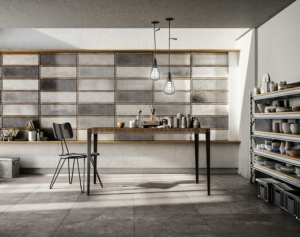 hyper realistic wall and floor tiles in industrial glass by diesel living with iris ceramica