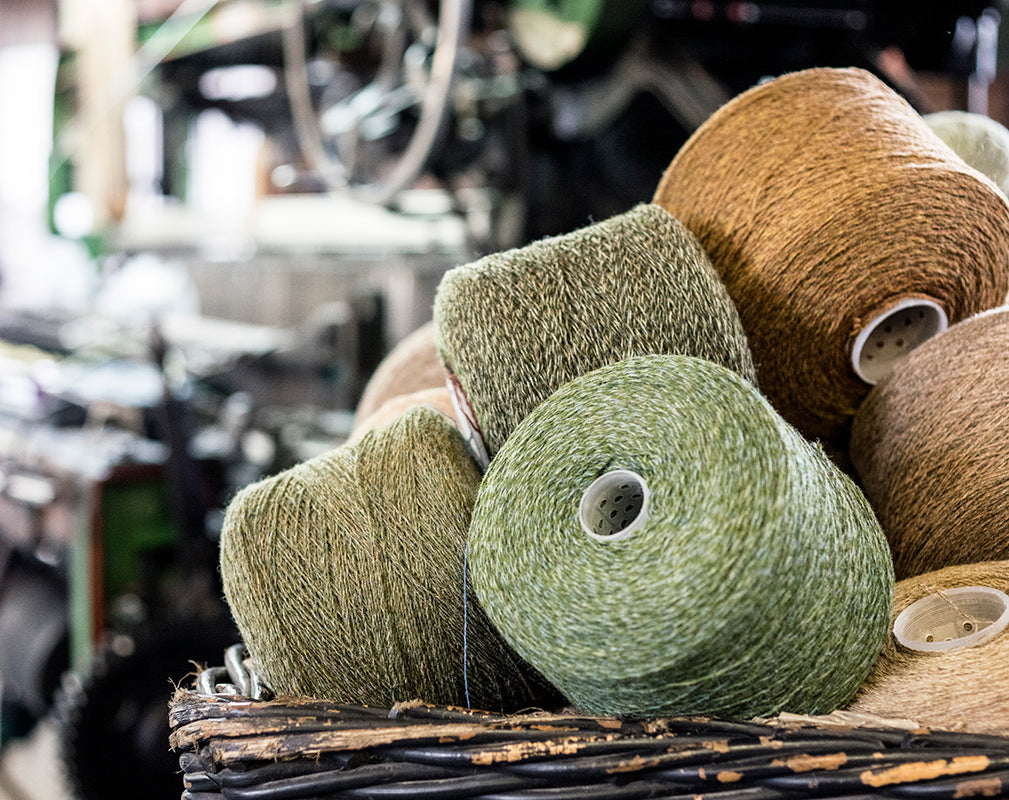 British wool threads at the london cloth company micro mill.