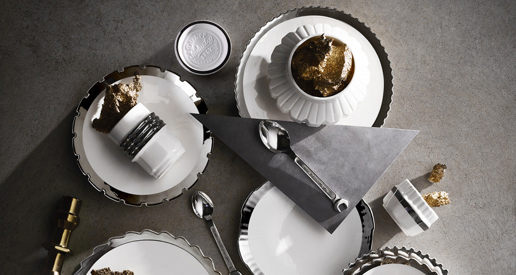 the machine collection with metal finish by diesel living with seletti