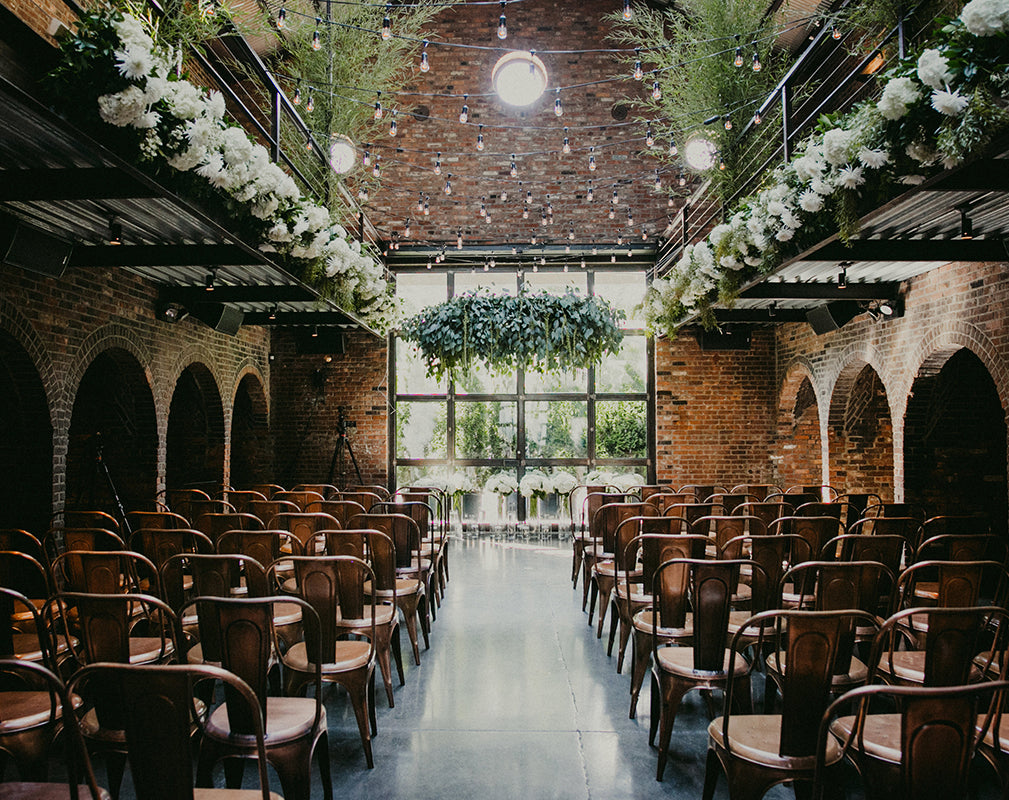 the foundry wedding venue in an industrial warehouse conversion in new york