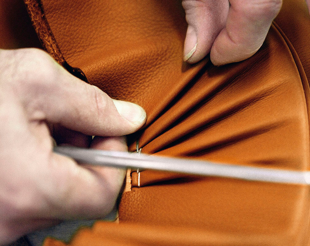 production of leather at the poltrona frau workshop