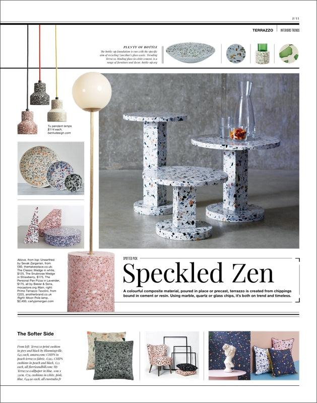 Warehouse Home Issue Six Page 11 Terrazzo Interiors Trends feature