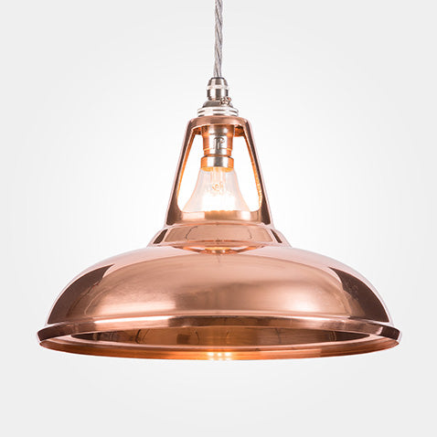Copper coolicon pendant from Artifact Lighting.