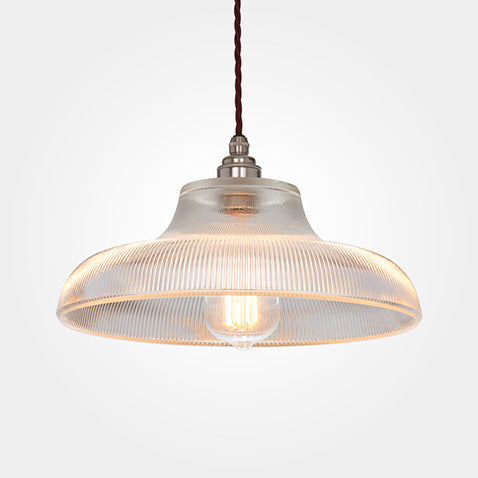 reeded factory style pendant light from artifact lighting