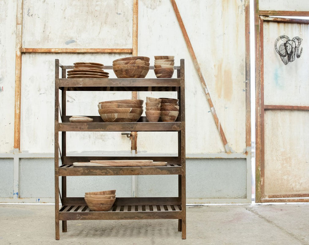 UMI iron kitchen shelf by Nkuku