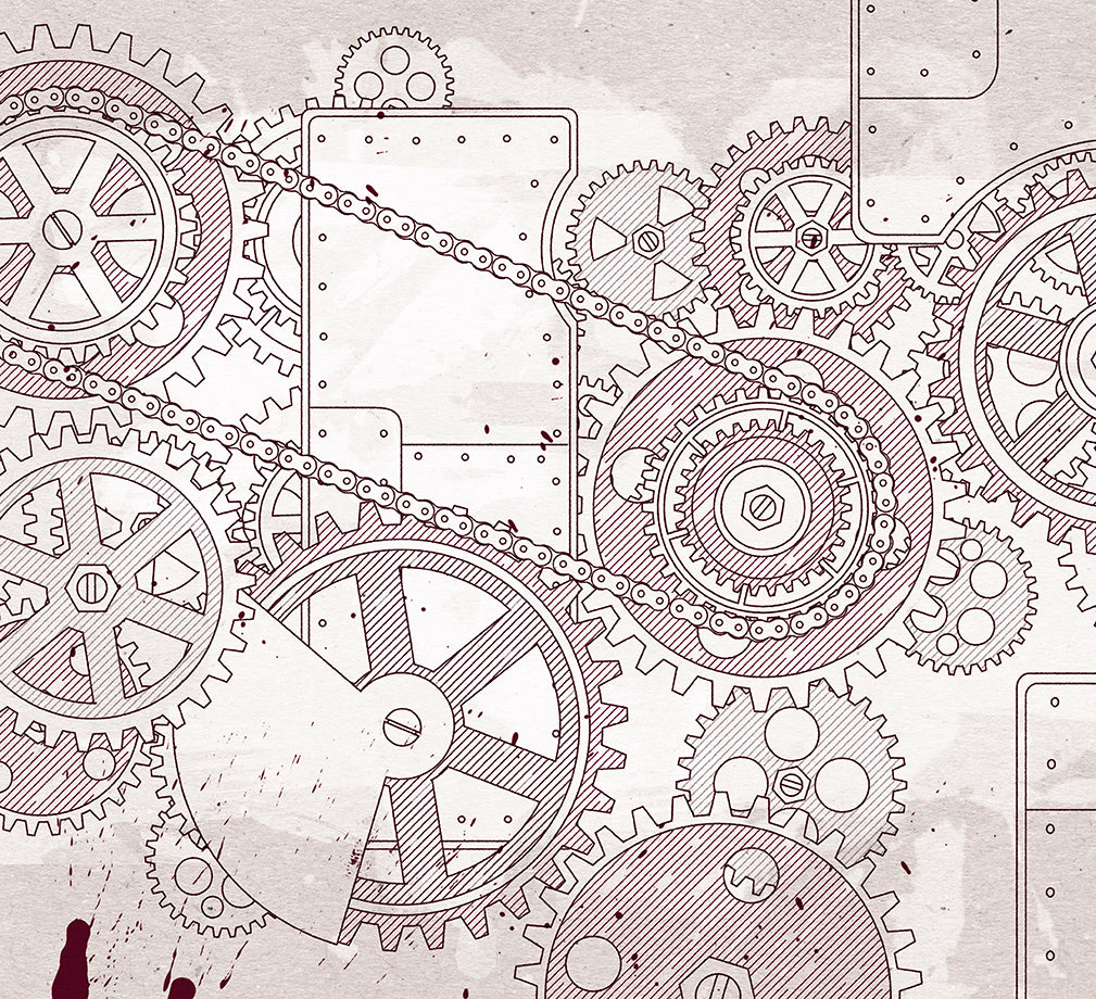 Steampunk wallpaper design.