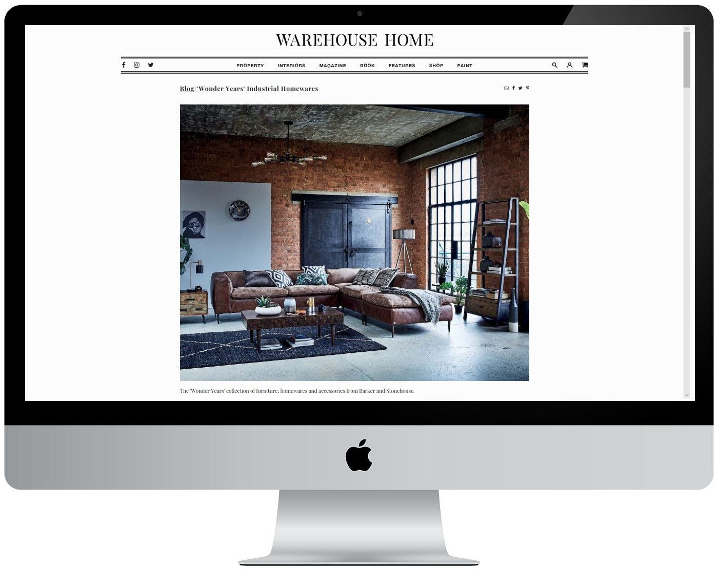 Warehouse home website screenshot