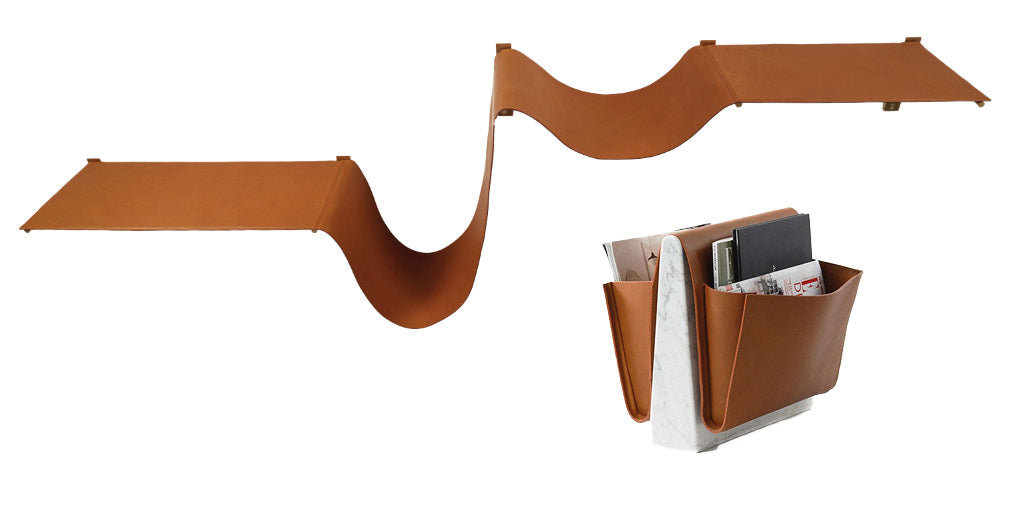 folded leather trend leather magazine rack and office accessories.