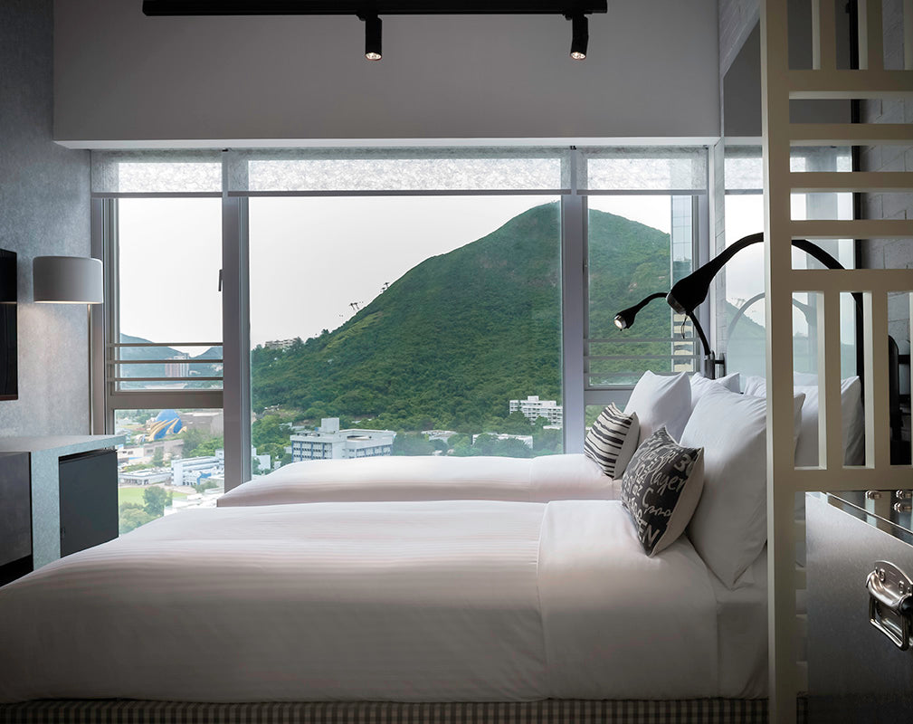 Ovolo southside warehouse conversion in contemporary industrial style with view of hong kong