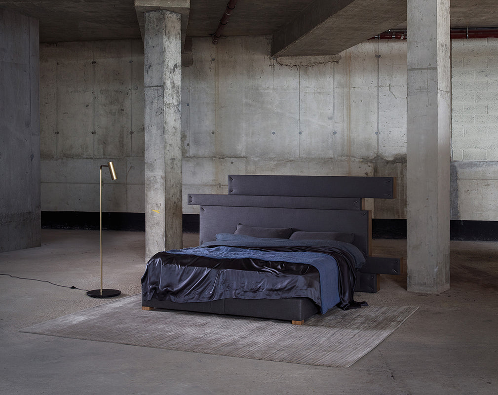 bedroom scheme in an abandoned industrial conversion