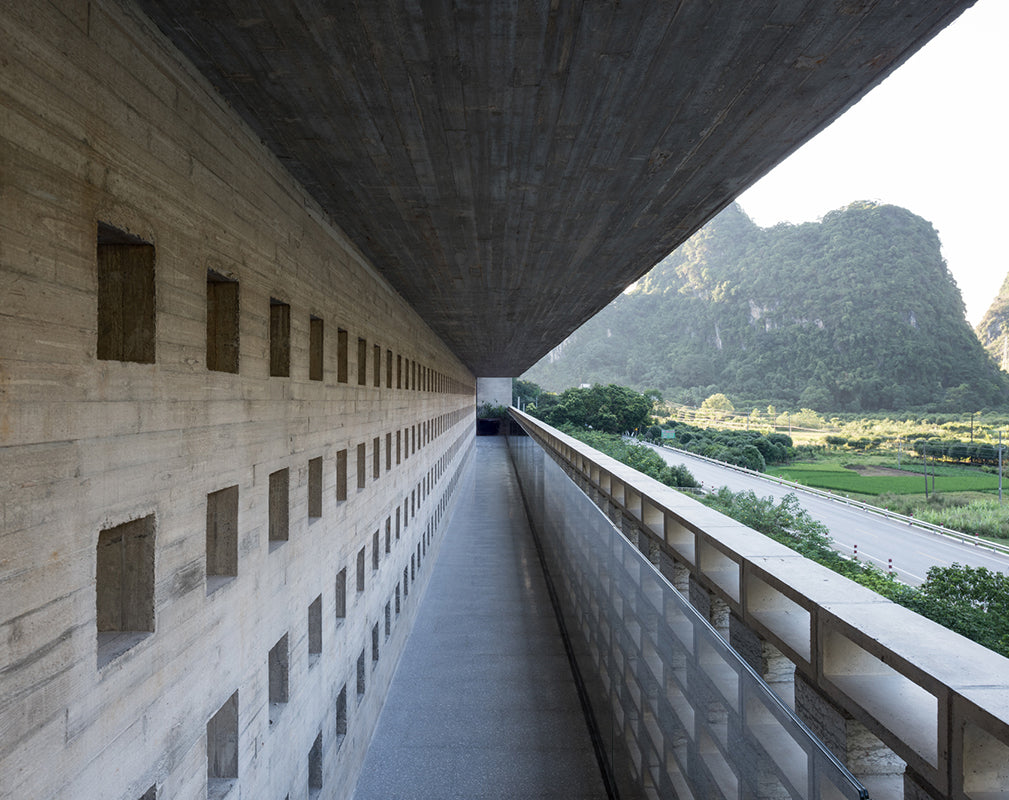 public walkway outside alila yangshuo by vector architects photography by hao chen