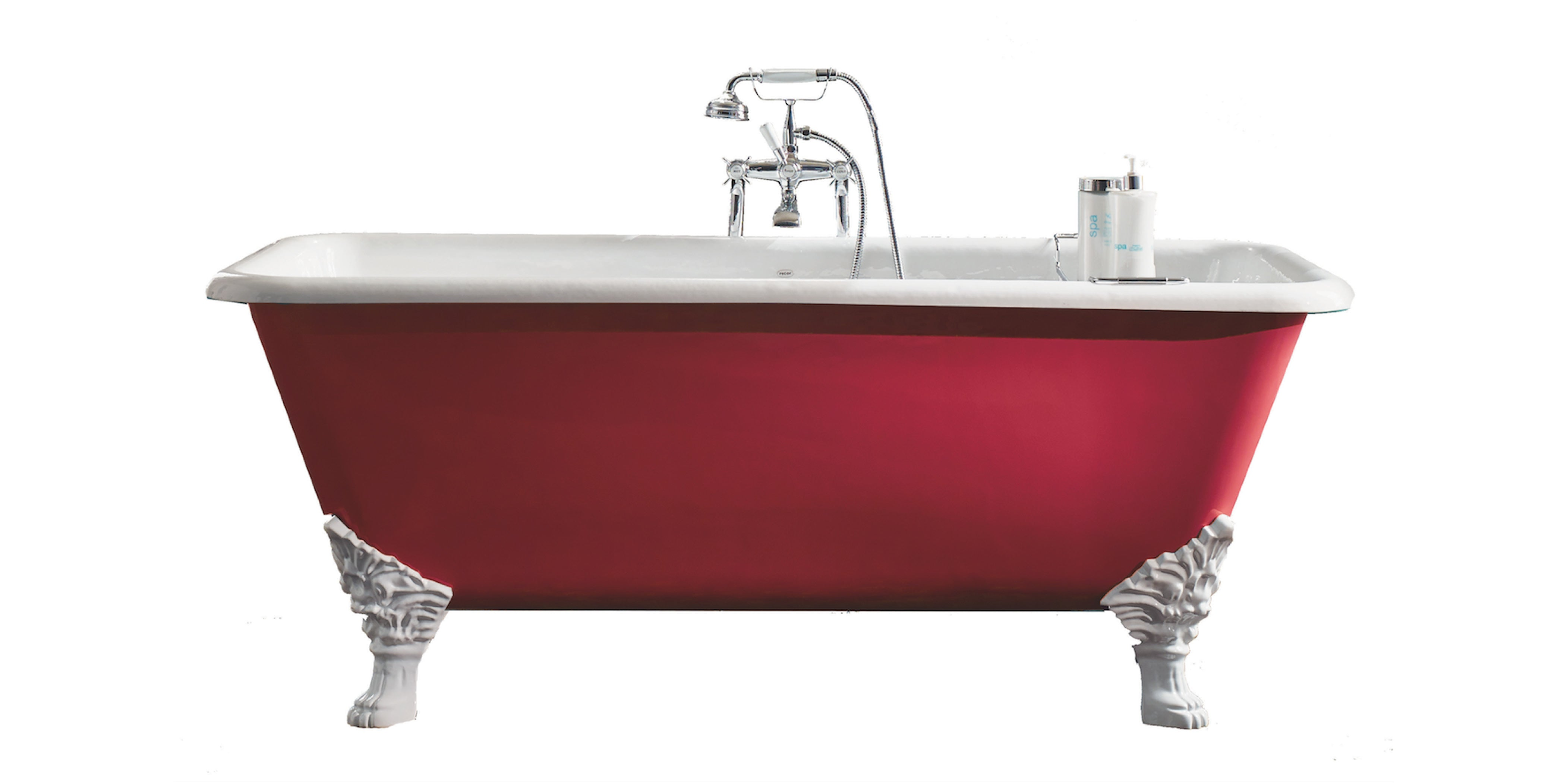 astonian hanover cast iron roll top bathtub with ornate claw feet from aston matthews